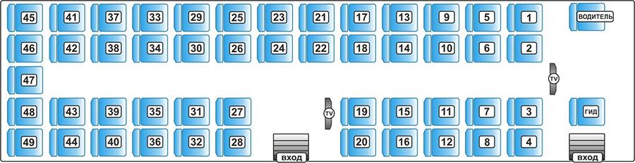 Neoplan 49 схема мест